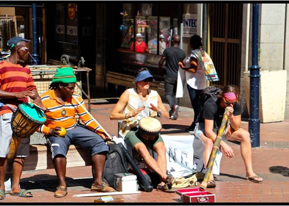 no danger diaries perform on street to help busker